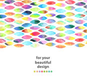 Watercolor colorful abstract background Stock Image