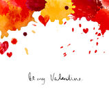 Watercolor colorful blot and heart Royalty Free Stock Photos