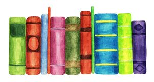 Books, watercolor