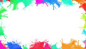 Watercolor colorful borders. Design for banner,frame, wallpapers, covers and packaging. stock illustration