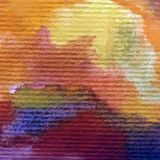 Watercolor abstract bright colorful textural background handmade . Painting of modern landscape. Sea coast , hill. Watercolor colorful bright textured abstract Royalty Free Stock Photography
