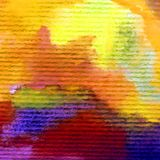 Watercolor abstract bright colorful textural background handmade . Painting of modern landscape. Sea coast , hill. Watercolor colorful bright textured abstract Royalty Free Stock Photos