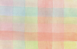 Watercolor colorful checkered background Royalty Free Stock Image