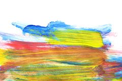 Watercolor colorful drawing stock photography