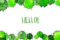 Watercolor colorful green blot background Royalty Free Stock Image