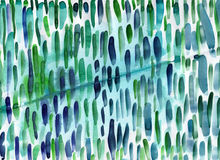 Watercolor colorful green and blue lines. Cute background for pr Royalty Free Stock Photo