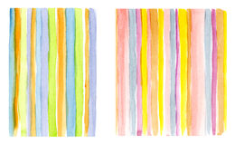 Watercolor colorful lines Stock Images
