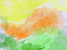 Watercolor. Colorful watercolor painting for background Stock Photos
