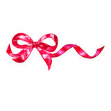 Watercolor colorful red pink isolated decorative bows of ribbon Royalty Free Stock Photos