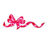 Watercolor colorful red pink isolated decorative bows of ribbon Stock Photo