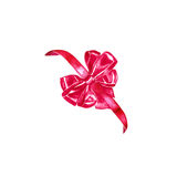 Watercolor colorful red pink isolated decorative bows of ribbon Stock Image