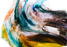 Watercolor colorful splash. On white background Stock Photography