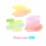 Watercolor colorful stains Royalty Free Stock Photography