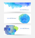 Watercolor colorful stains Stock Photos