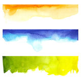 Watercolor and colors. Mix of colorful abstract backgrounds Stock Photos
