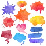Watercolor Comics Bubble Set Royalty Free Stock Image