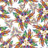 watercolor Composition décorative - Paisley sur un fond d'aquarelle Configuration sans joint Image stock