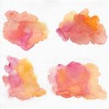 Watercolor coral pink splash, coral watercolor, pink watercolor, coral splash, pink splash royalty free illustration
