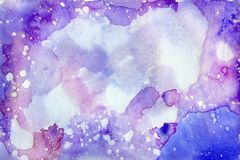 Watercolor cosmos background Royalty Free Stock Image