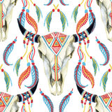 Watercolor cow skull Royalty Free Stock Photography