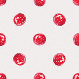 Watercolor Cranberry. Seamless pattern. Cranberry cute background, watercolor illustration. Polka dots, Berry Hand drawn pattern Royalty Free Stock Photo