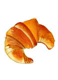 Watercolor croissant Στοκ εικόνες με δικαίωμα ελεύθερης χρήσης