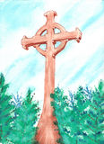 Watercolor Cross Royalty Free Stock Photos