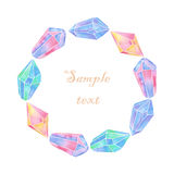 Watercolor crystals banner Royalty Free Stock Images