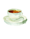 Watercolor cup of coffee royalty free illustration