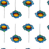 Watercolor daisy seamless pattern. Royalty Free Stock Photography