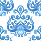 Watercolor damask flower Royalty Free Stock Images