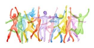 Watercolor Dance Set. Royalty Free Stock Photo