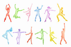 Watercolor dance set. Stock Illustration