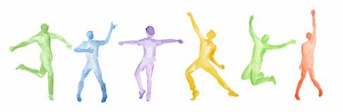 Watercolor dance set. vector illustration