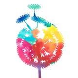 Watercolor dandelion Royalty Free Stock Photo