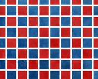 Watercolor dark blue and red squares. Watercolor background. Red watercolor texture. Watercolor geometric pattern. Royalty Free Stock Photography