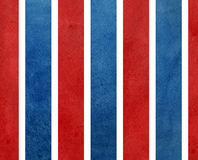 Watercolor dark blue and red striped background. Stock Photography