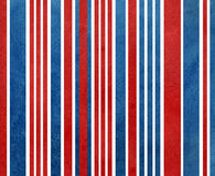 Watercolor dark blue and red striped background. Royalty Free Stock Photo