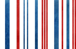 Watercolor dark blue and red striped background. Royalty Free Stock Images