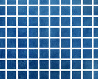 Watercolor dark blue squares. Watercolor textured dark blue square geometric pattern Stock Photography