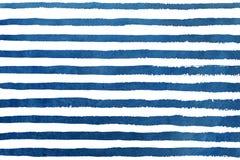 Watercolor dark blue stripe grunge pattern. Stock Images