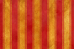 Watercolor dark red and acryl golden striped background Royalty Free Stock Photography