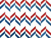 Watercolor dark red and dark blue stripes background, chevron. Stock Photos