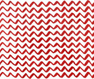 Watercolor dark red hand painted stripes on white background, chevron Royalty Free Stock Image