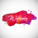 Watercolor Dark Red Vector Element For Text Background. Art Royalty Free Stock Images