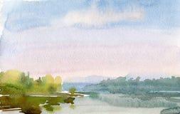 Watercolor dawn Royalty Free Stock Photo