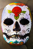 Watercolor Day of the dead mask Stock Photography