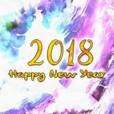 Watercolor/2018 de bonne année Image libre de droits