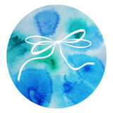 Watercolor decorative element vector bow Stock Photography