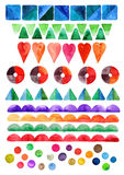 Watercolor decorative shapes and structure Stock Images
